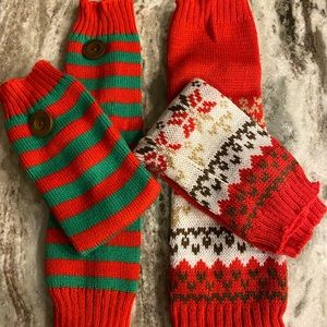 Holiday Style Leg Warmers